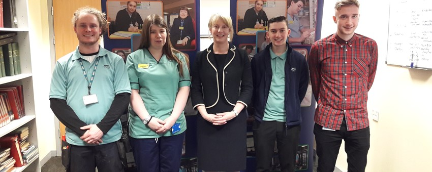 Health Secretary celebrates ongoing success of NHSGGC Modern Apprentice programme