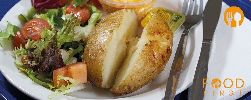 Food First baked potato with cheese