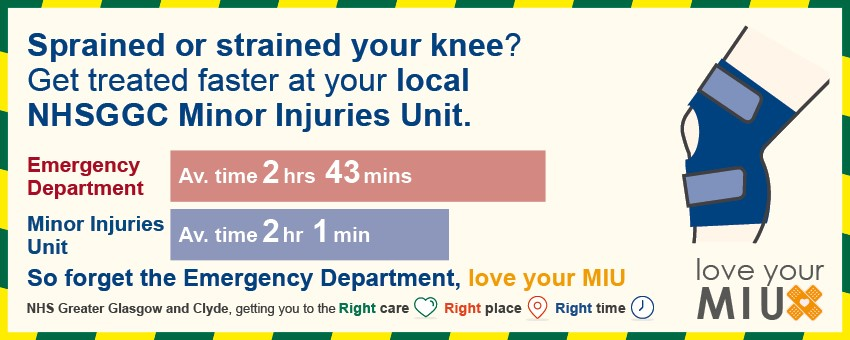 MIU - Sprained knee waiting times
