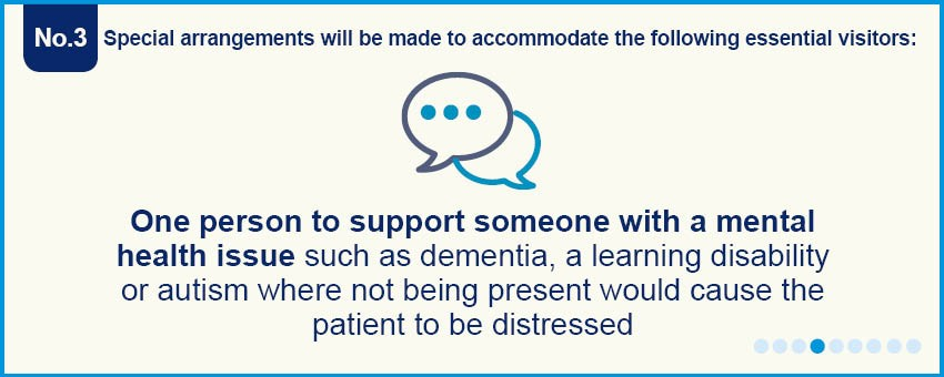 Suspended visiting - mental health support