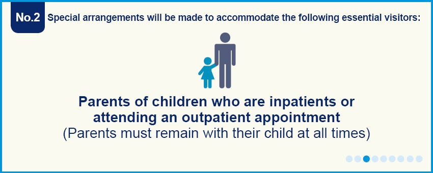Essential visitors - parents of children in or outpatient